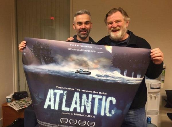 Cahir man Risteard Ó Domhnaill and actor Brendan Gleeson who is the narrator of Atlantic