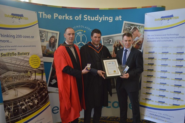 representing the School of STEM is Dr Patrick Carney, Head of Department - Technology, Engineering & Mathematics with Brian Melbourne (Agri Engineering student ) from Giantsgrave, Clonmel, and Dr John Daly, Dairymaster.