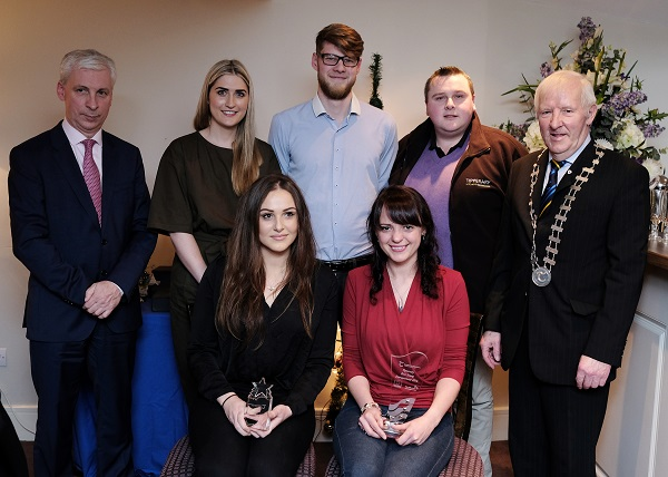 Joe MacGrath Chief Executive Tipperary County Council pictured with County IBYE finalists including Geraldine Byrne MediSkin, Joel Carey Crowdsound, Kieran Keane Tipperary Kitchens, Cllr. Mattie Ryan, Evie Ward Nut Shed and Jennifer Nickerson Tipperary's Best Young Entrepreneur 2016
