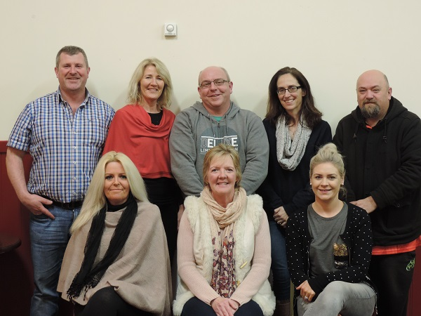 Cast of Aglish Drama Group production of 'For Better For Worse'. L-R (Back Row ) Noel Hogan, Deirdre Darcy, Michael Torpey, Carmel Fox ,Pat Fox. Front Row ) Sylvia Conlon, Teresa Brennan, Suzanne Slevin