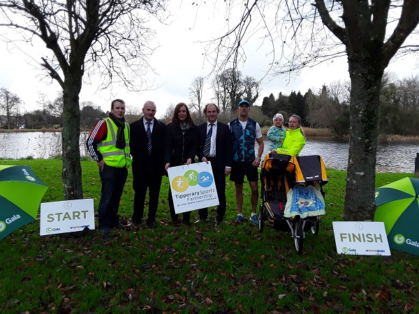 Pictured at the official launch of Parkrun Templemore. Left to right  Kenny Franks (Volunteer) Joe Bourke (Chairman of the Thurles Templemore Municipal District), Elaine Cullinan (Tipperary Sports Partnership), John Hogan (Councillor Thurles Templemore Municipal District) Ken McDonald (Volunteer), Orla McDonald (Volunteer) and Mia McDonald.