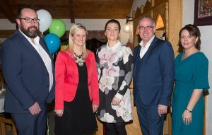 Winner of the Sustainable Energy Award- Sola Energy Solutions Templemore. Pictured left to right Paul O Brien, Sola Energy Solutions, Siobhan Ambrose MCC, Cathaoirleach Tipperary Co Co, Catherine O Brien, Sola Energy Solutions, Mary Ryan, Adjudicator and Kevin Kelly Guest Speaker