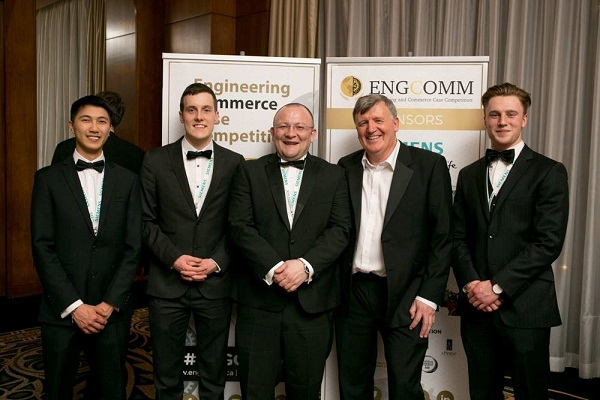 Pictured is the University of Limerick team (L-R) - Patrick Lu, David Monaghan, Eoin Hann, Denis Kelly, ESB, and Darren Feehily.