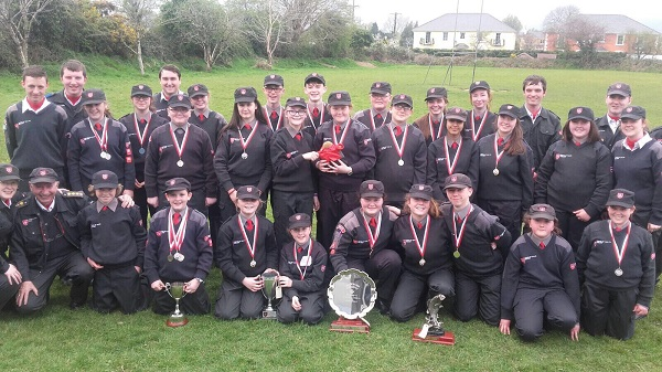Pictured following Sunday's First Aid Competitions are some of Thurles Order of Malta Cadet Corps and their proud Cadet Leaders