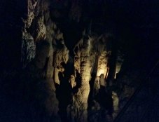 Area full of stalagmites and formations.