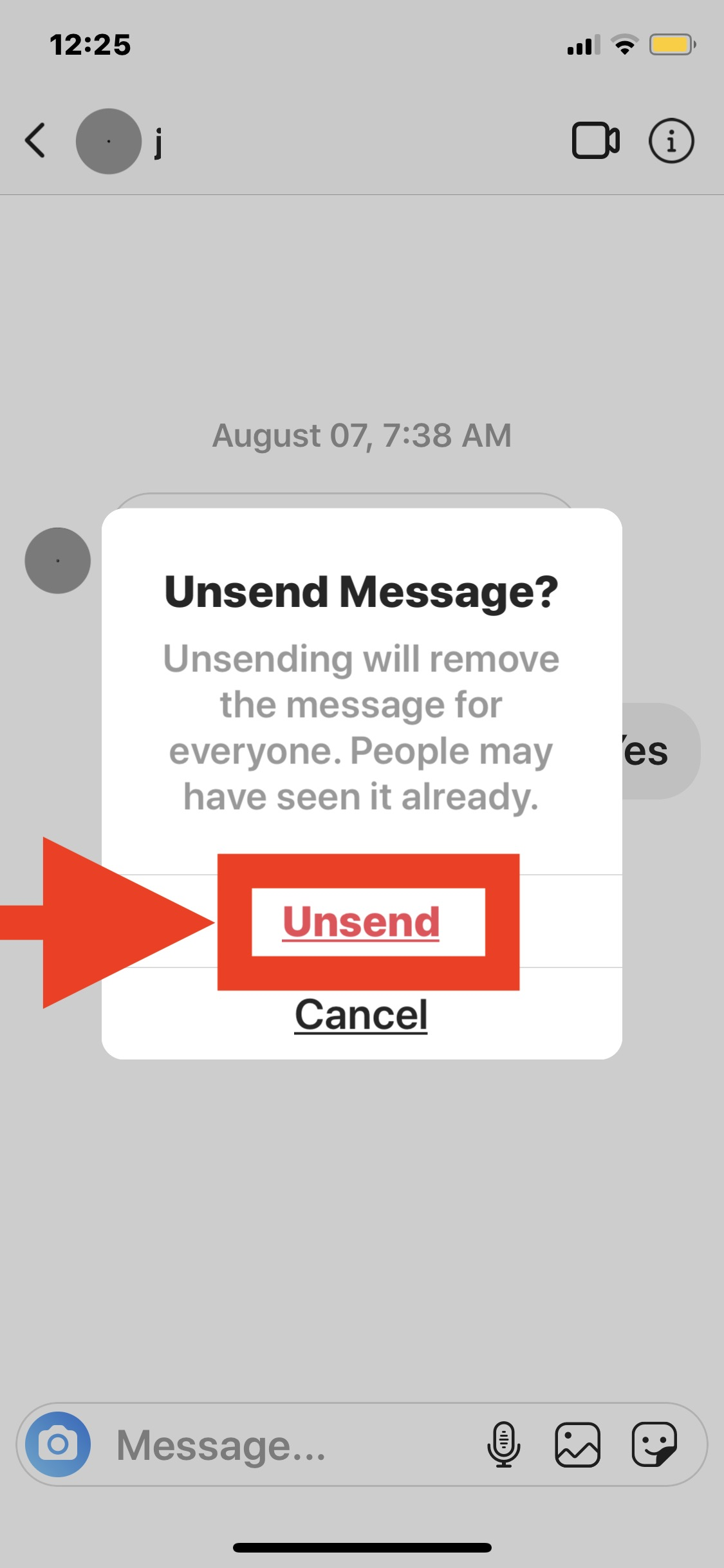 How to Unsend a Message on Instagram