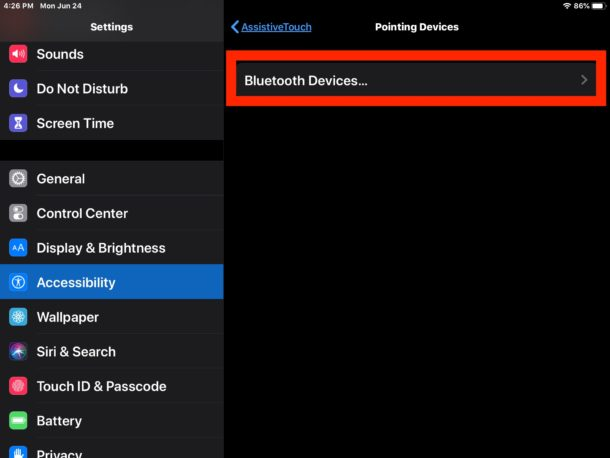 How to connect a bluetooth mouse on iPad