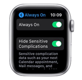 How to enable Always On Apple Watch display