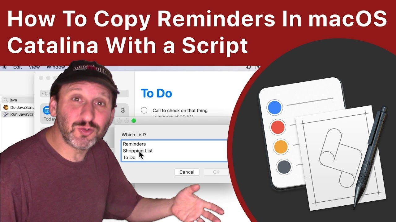 How To Copy Reminders In macOS Catalina With a Script