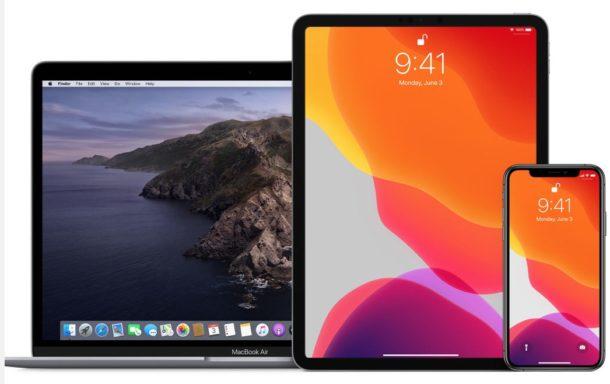 MacOS Catalina, iPadOS 13, and iOS 13