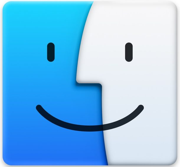 Finder icon on the Mac