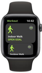 Tap a workout