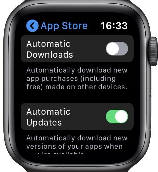 App Store settings