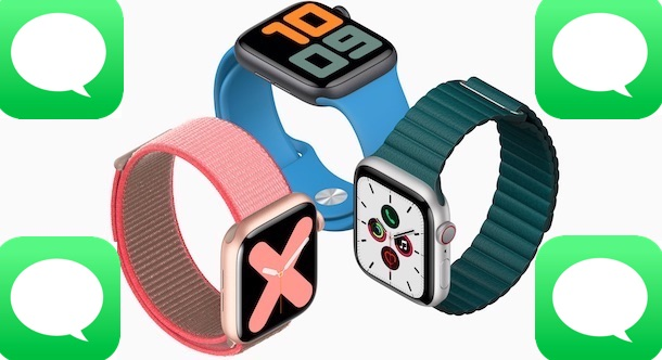 Apple Watches with Messages icons