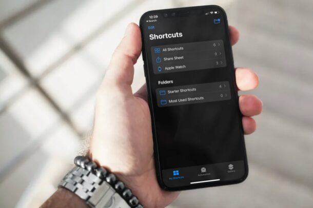 How to Organize Shortcuts in Folders on iPhone