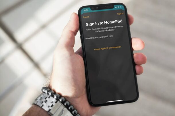 How to Change Apple ID for HomePod Account