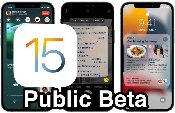Installing iOS 15 Public Beta