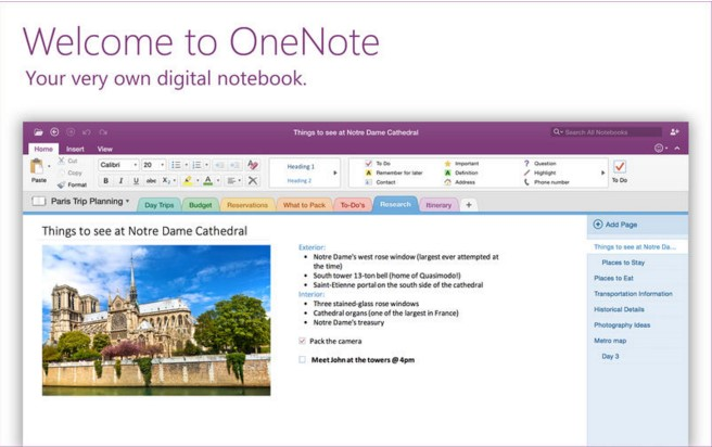 Microsoft OneNote For iOS