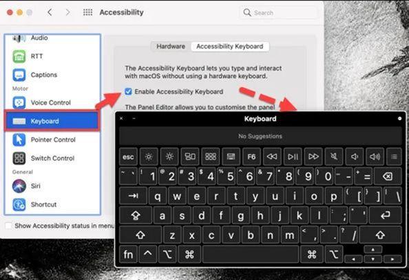 Mengaktifkan Virtual Keyboard MacBook