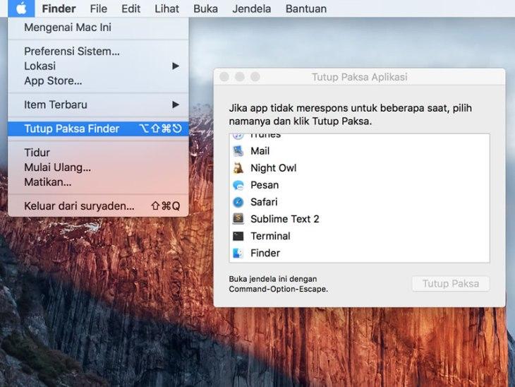 Cara Menutup Paksa Aplikasi di Mac OS