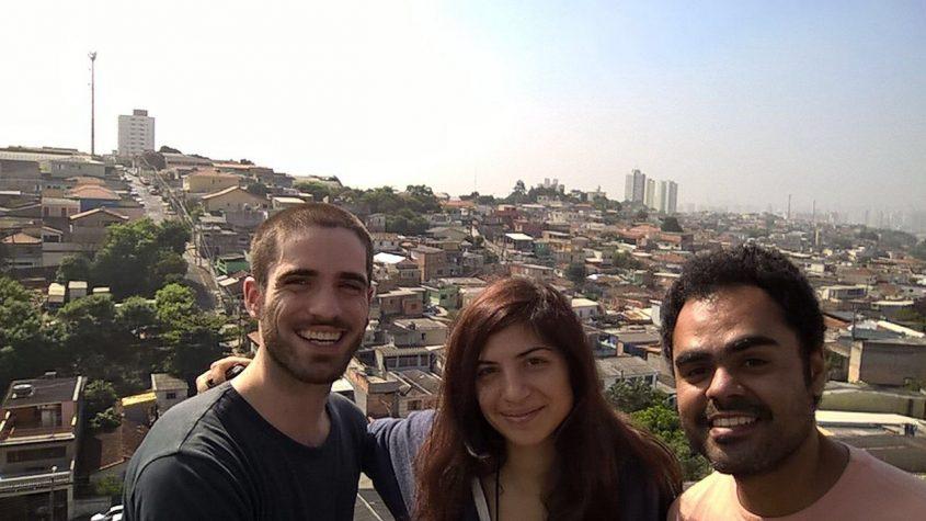 Vista di San Paolo dalla terrazza della casa del nostro ospitante in Brasile