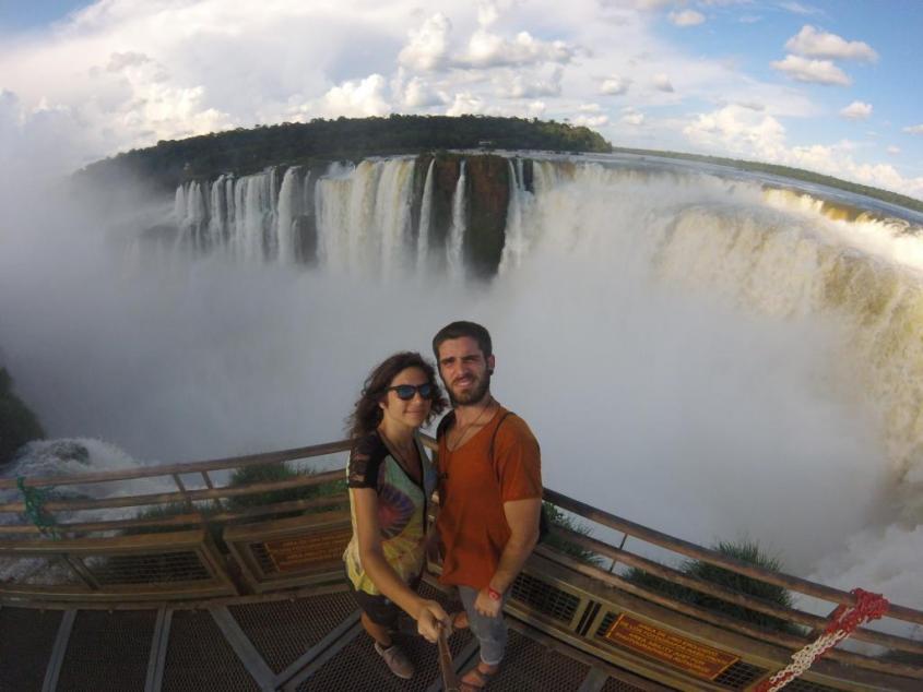 Noi due e la Garganta del Diablo delle Cascate di Iguazù dal lato argentino