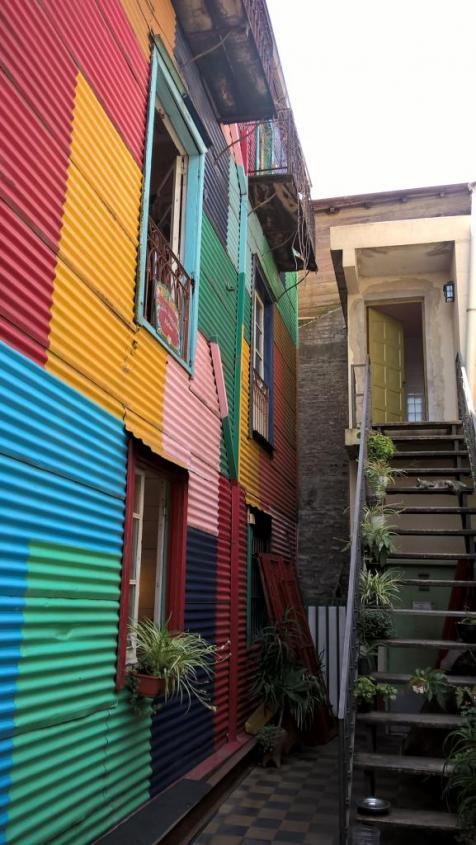 Colori di El Caminito del quartiere La Boca di Buenos Aires
