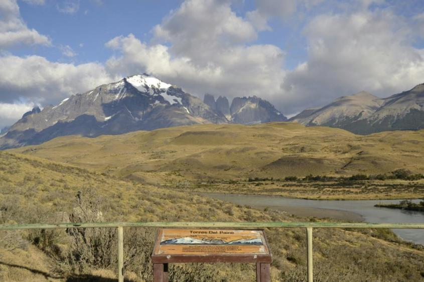 Paesaggio Torres del Paine Parco Nazionale Cile