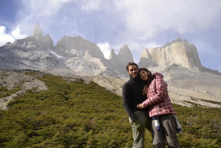 "Mirador Britannico al trekking ""W"" nel Parco Nazionale Torres del Paine in Cile"