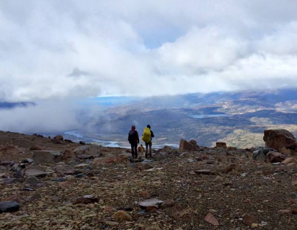 Panorama del trekking al Cerro Castillo in Cile