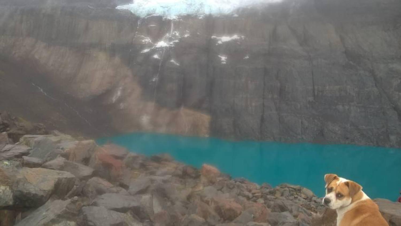 La laguna ai piedi del Cerro Castillo