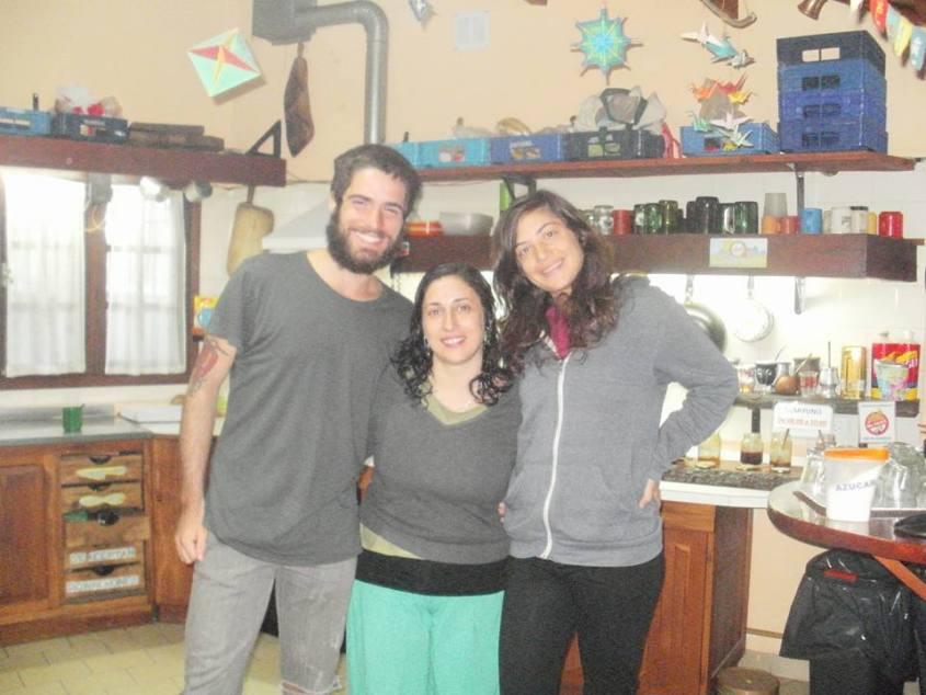All'ostello La Casa del Arbol a El Bolson con Anita