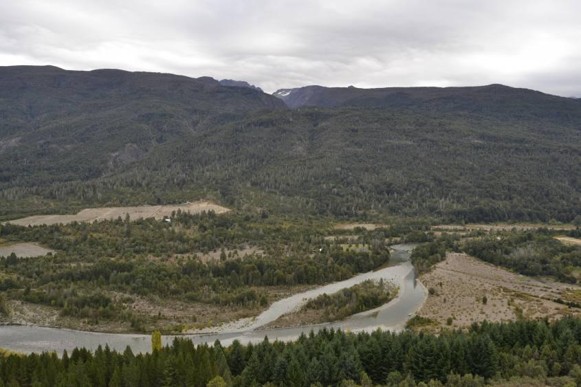 Paesaggio durante il percorso a La Cabeza del Indio a El Bolson Argentina