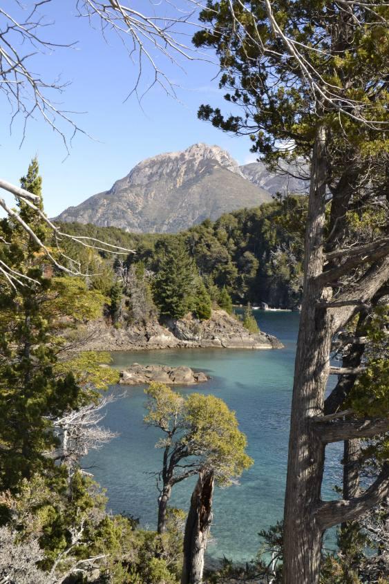 Vista del lago nel percorso per raggiungere la cime del Cerro Llao Llao a Bariloche