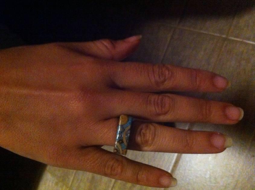 Anello di pietre del Sud America comprato a El Bolson
