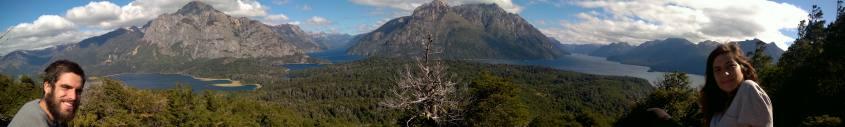 Vista dei sette laghi dalla cima del Cerro Llao Llao a Bariloche