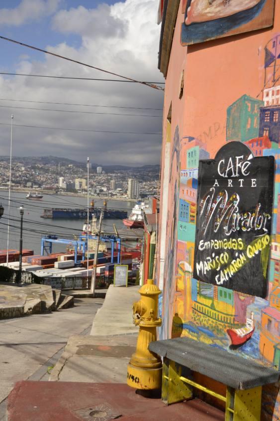 Scorci panoramici di Valparaiso in Cile