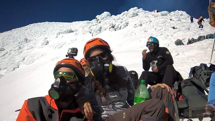 L'ultima sosta prima del cratere del Villarrica di Pucon in Cile