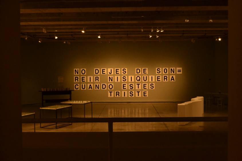 Esposizione all'interno del GAM (Centro Culturale Gabriela Mistral) di Santiago del Cile