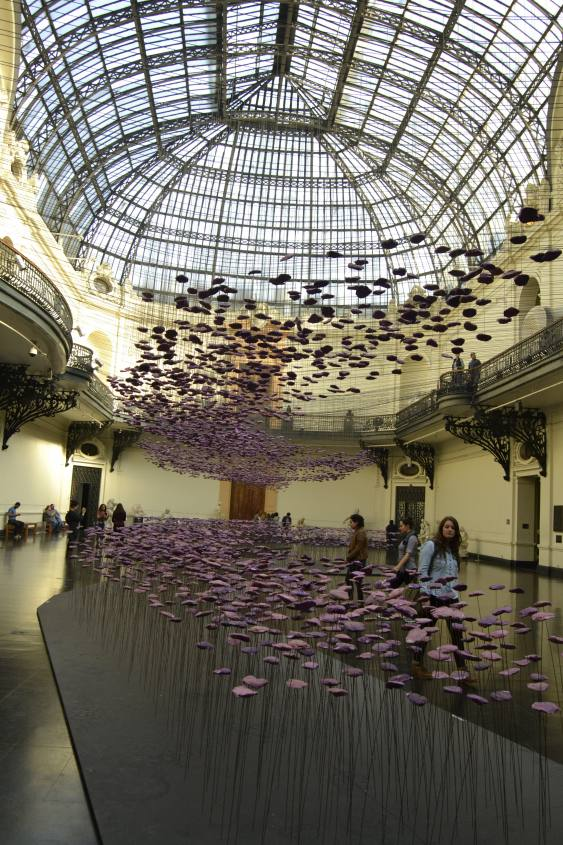 Installazioni del MAC (Museo di Arte Contemporanea) a Santiago del Cile