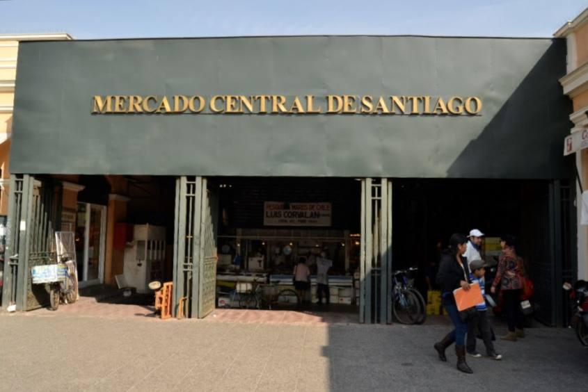 Esterno del Mercato Centrale di Santiago del Cile