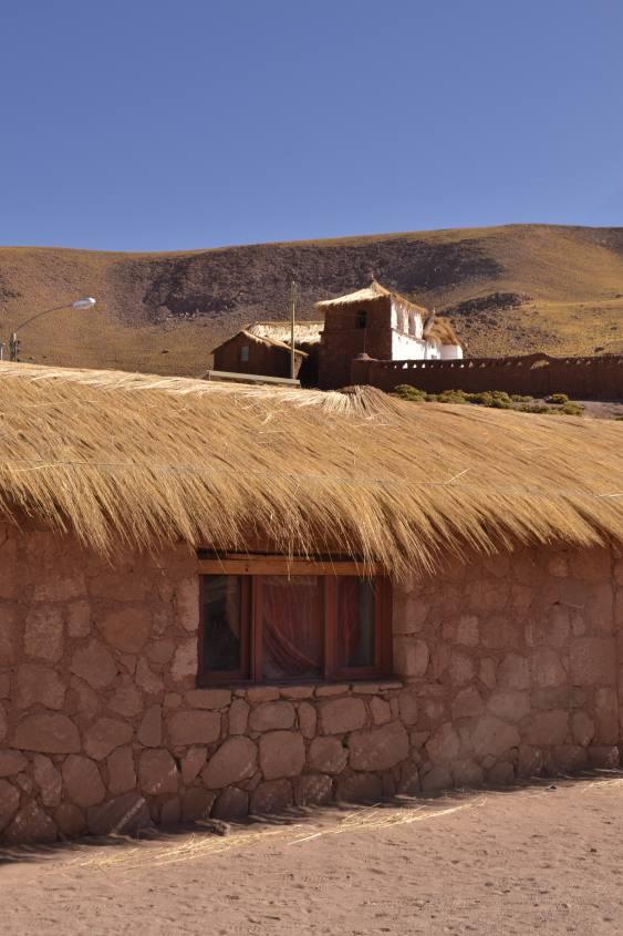 Villaggio di Machuca vicino i Geyser del Tatio nel deserto di Atacama in Cile