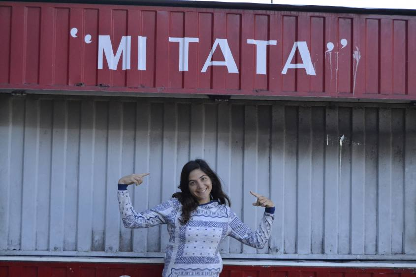 """Bancarella """"Mi Tata"""" nel centro di Salta la Linda in Argentina"""