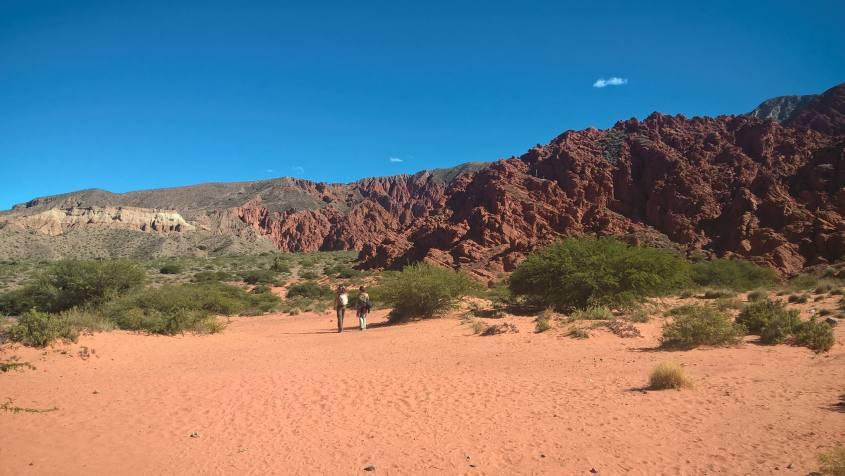 Terra rossa della Quebrada de las Señoritas vicino Tilcara in Argentina
