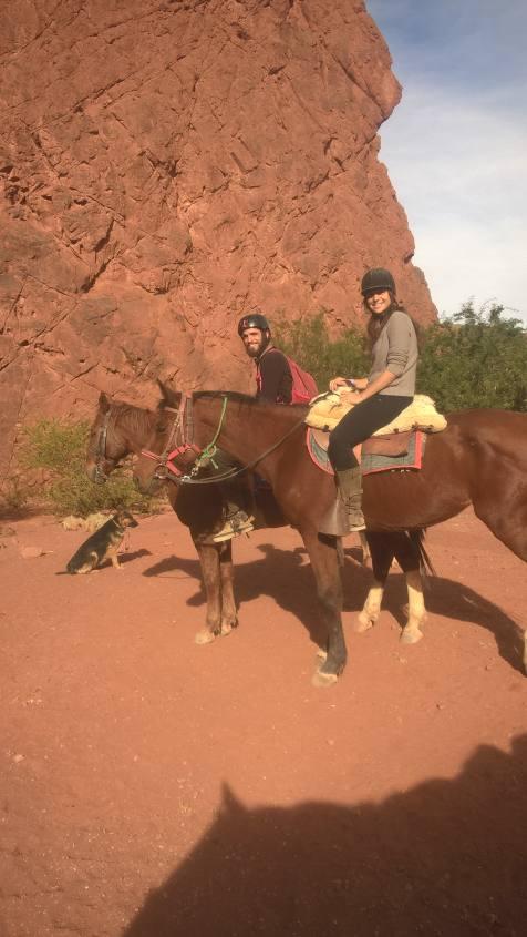 Escursione a cavallo nella Quebrada di Palmira nella città di Tupiza in Bolivia