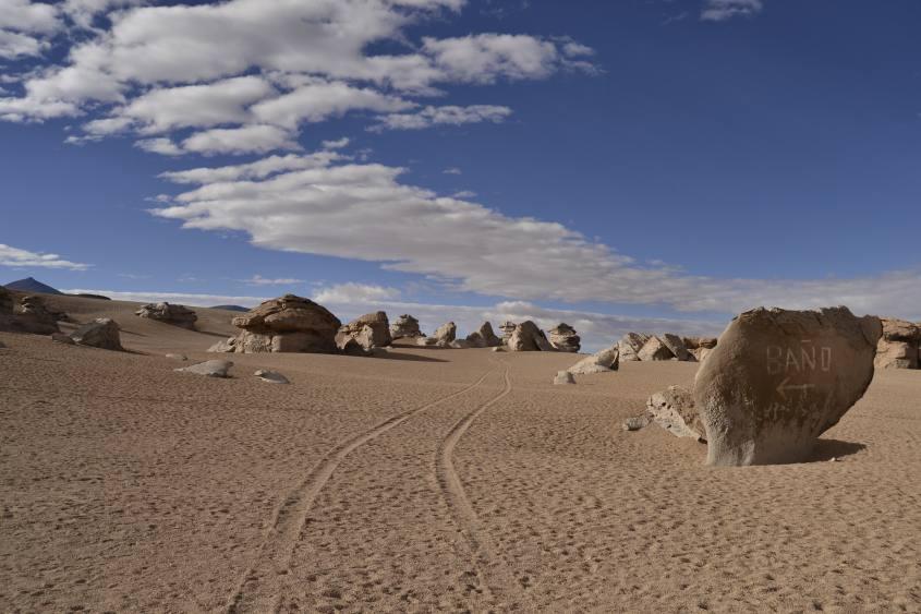 Il deserto di Siloli durante il tour al Salar di Uyuni in Bolivia