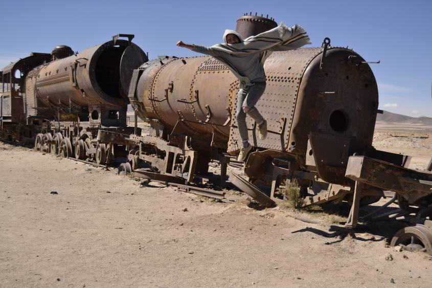 Il Cimitero dei treni a Uyuni in Bolivia