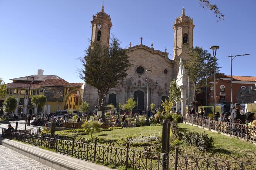 Piazza principale Plaza de Armas città di Potosì in Bolivia