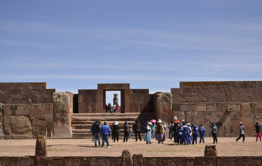 Vista di Tiwanaku in Bolivia