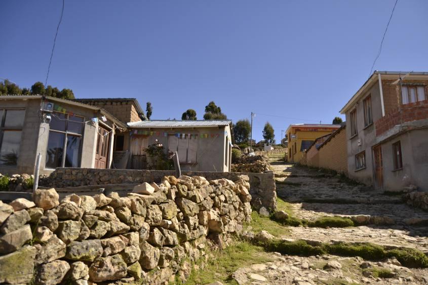 Villaggio Escalinata nella parte sud dell'Isla del Sol in Bolivia